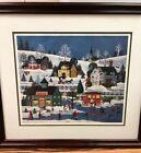 Jane Wooster Scott Wet Your Whistle Framed Hand COA Signed Christmas Village