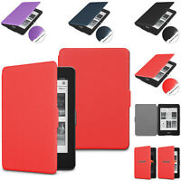 For Amazon Kindle Paperwhite 3/2/1 Leather Magnetic Smart  E-reader Case Cover