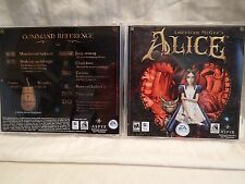 American McGee's Alice (Apple Macintosh Mac OS X) Case, insert & game, Rare/HTF