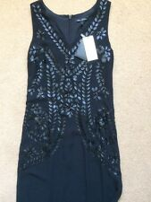 NEXT Ladies Black Maxi Dress, Tailored, Size UK8, EUR 36 Petite, RRP£100