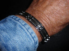 "Park Lane Jewelry, ""BRAVO"" Bracelet, For Him, Stainless Steel, Cable, New!!!"