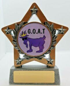 Goat Trophy Star 130mm Engraved FREE