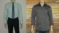 $266 JOHN VARVATOS Lot 2 Shirts Seafoam, Indigo Long Sleeve Size L and 16 32/33