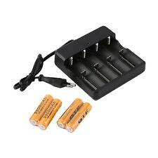 4x18650 3.7V 9900mAh Protected Li-ion Battery+4 Slots Universal Stop Charger UL