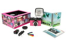 Lomography Diana F+ Mini Camera With Flash En Rose - Brand New In Box (Rare)
