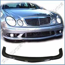 Fit 03-06 BENZ W211 E55AMG Front Bumper Extended Spoiler Lip C Type Carbon Fiber