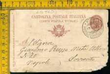 Regno navigazione vie di mare lb460 piroscafo postale Vittoria Ischia (conciata)