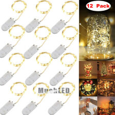 12x 20 LED Fairy String Lights Starry Rope Copper Wire Lights Battery Operated