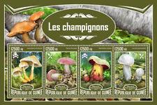 Guinea 2017 MNH Mushrooms 4v M/S Champignons Fungi Stamps
