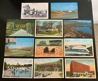 Lot of 11 Original Vintage Postcards - New York - Huntington, Lake Placid+