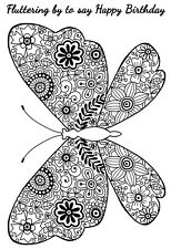 DECORATIVE BUTTERFLY - Clear Magic Stamp - Woodware