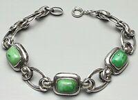 Art Deco Silber Armband Türkis Besatz Deutschland 20er/30er Jahre 835 Silber
