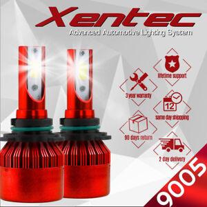 9005 HB3 6K 980W 147000LM Dual-Side LED High Beam Headlight Kit White Bulbs Pair