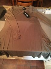 B You Long Sleeve Tunic Dress with pockets - Khaki Green Size 14