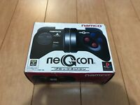 PS1 NEGCON BLACK Controller NAMCO PlayStation with BOX and Manual