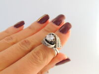 Size 7 Cute Design Vintage Jewelry Sterling Silver 925 Women's Ring Fashion