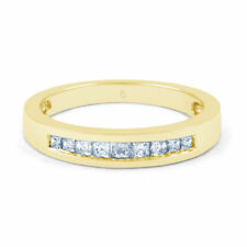 Princess Yellow Gold Very Good Natural Fine Diamond Rings