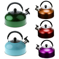 Whistling Kettle Stainless Steel Camping Kitchen Tea Coffee Hot Water Pot