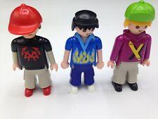 Playmobil Figures Skateboard Skate  Set of 3 Men Figures Male