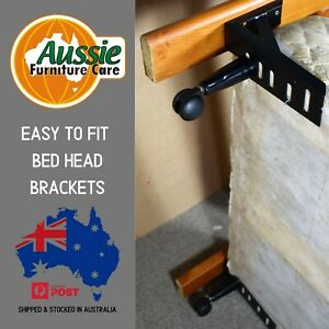 Bed Head Brackets 10 inch Fit Bed Head to Bed Ensemble Stop Bedhead From Moving