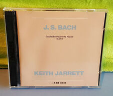 J.S. Bach: Well-Tempered Clavier, Book 1 CD Keith Jarrett 2 Disc Set 1988