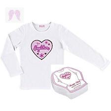 Die Spiegelburg Engelchen, Magic T-Shirt, Langarmshirt Gr. 104/116 weiß/rosa