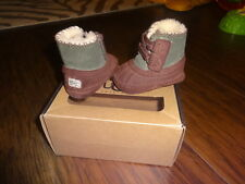 UGGS I ARLY 0/1 BROWN GREEN INFANT BABY SHOES