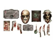 Halloween Party Wall/Decoration/Prop~12pc Insane Asylum  DECORATING KIT NEW