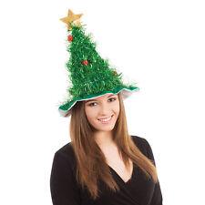 Adult X-Mas Tree Hat Christmas Festive Fancy Dress Costume Accessory
