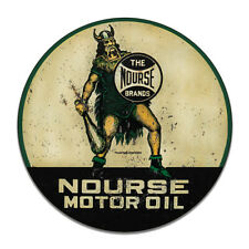 Nurse Motor Oil The Nourse Brrands Gasoline Round MDF Wood Sign