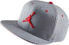 Nike Air Jordan 4 IV Snapback Cap Wolf Grey Fire Red (# 724893-013) RETRO