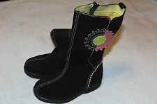 Umi toddler girl black suede boots size 25 us size 8.5 VGUC