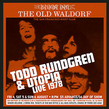 TODD RUNDGREN & UTOPIA New 2016 UNRELEASED LIVE 1978 CONCERT 2 CD SET