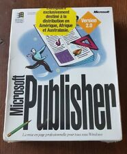 Microsoft Publisher Version 2 French Release 1993 Brand New Factory Sealed