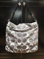 Coach Signature C Large Brooke Carryall Handbag Silver Grey $358.00