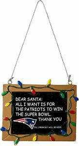 New England Patriots Chalkboard Christmas Tree Ornament