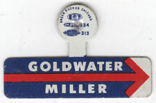 1964 Barry Goldwater + William Miller Arrow Campaign Tab FREE SHIPPING