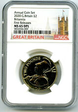 2020 GREAT BRITAIN 2PD BRITANNIA NGC MS65 DPL DEEP PROOF LIKE FIRST RELEASES