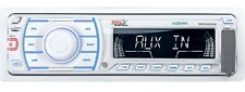 BOSS SINGLE DIN IN-DASH MARINE BOAT CAR MP3/WMA/USB/AUX/SD RECEIVER STEREO WHITE
