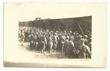 WWI Postcard - Prisoners Being Loaded On To Box Cars - Unused