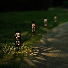 6PCS Outdoor Garden Solar Power LED Light Landscape Pathway Stake Lamp Lighting