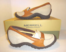 NEW!! Merrell 'Plaza Glide' Taupe Leather & Suede Flats - Women's Size 6 M