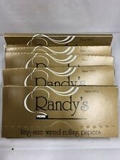 5 packs Randy's King Wired (110mm) Cigarette Tobacco Rolling Papers + FREE GIFT