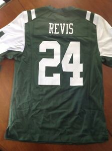 NWT NIKE ON FIELD NEW YORK JETS REVIS 24 JERSEY GREEN WHITE DS SIZE XL  479396