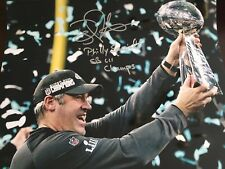 """DOUG PEDERSON SIGNED """"PHILLY SPECIAL"""" 11x14 SUPER BOWL LII LOMBARDI TROPHY"""