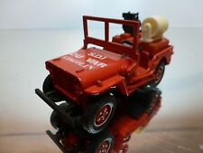 SOLIDO JEEP WILLYS - RED 1:43 - EXCELLENT CONDITION - 2