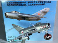 New 1:72 China Air Force Mig-15 Fighter Aircraft Static Display 3D Alloy Model