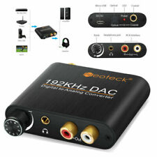 Digital Toslink Converter Coaxial Optical to Analog Audio Adapter L/R RCA 192KHZ