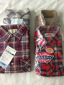 LOT OF NEW OLD STOCK MENS FLANNEL SHIRTS X-LARGE TALL 17-17.5 NECK FREE SHIPPING