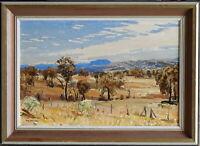 Max Ragless (1901-81) Original Oil Painting Towards Flinders Ranges Quoun
